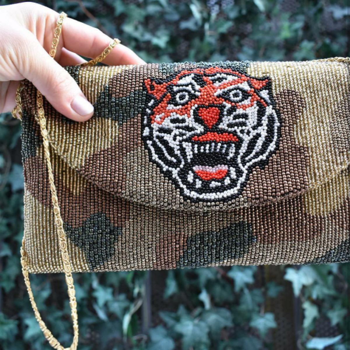 Camo Tiger Envelope Clutch
