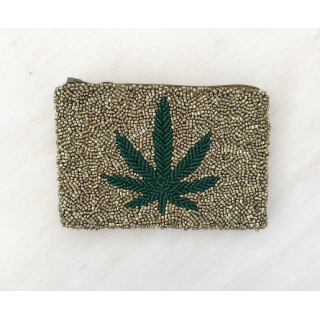 Pot Leaf Coin Purse