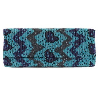 Abstract Animal Print Clutch