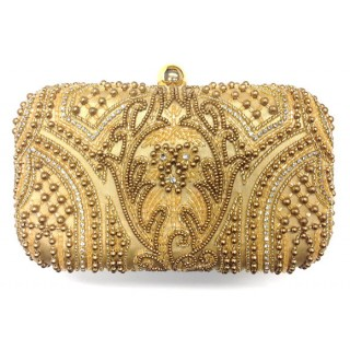 Abstract Pearl Large Box Clutch