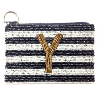 Alphabet Stripes Coin Purse