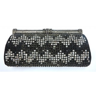Antique Frame Crystal Clutch