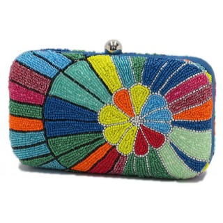 Beaded Box Bag Floral Burst