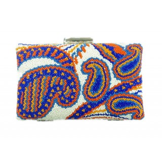 Beaded Box Bag Paisleys