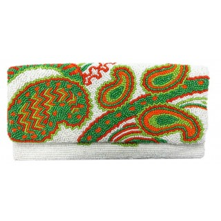 Beaded Clutch Paisleys