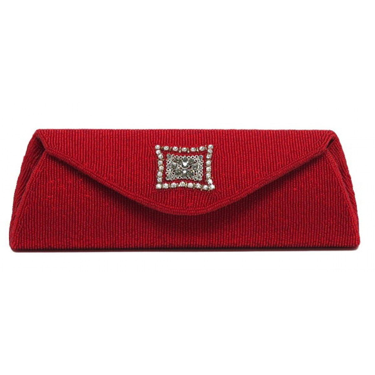 Beaded Clutch with Crystal Embellishment