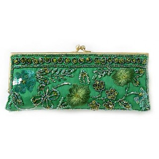 Beaded Clutch with Flowers