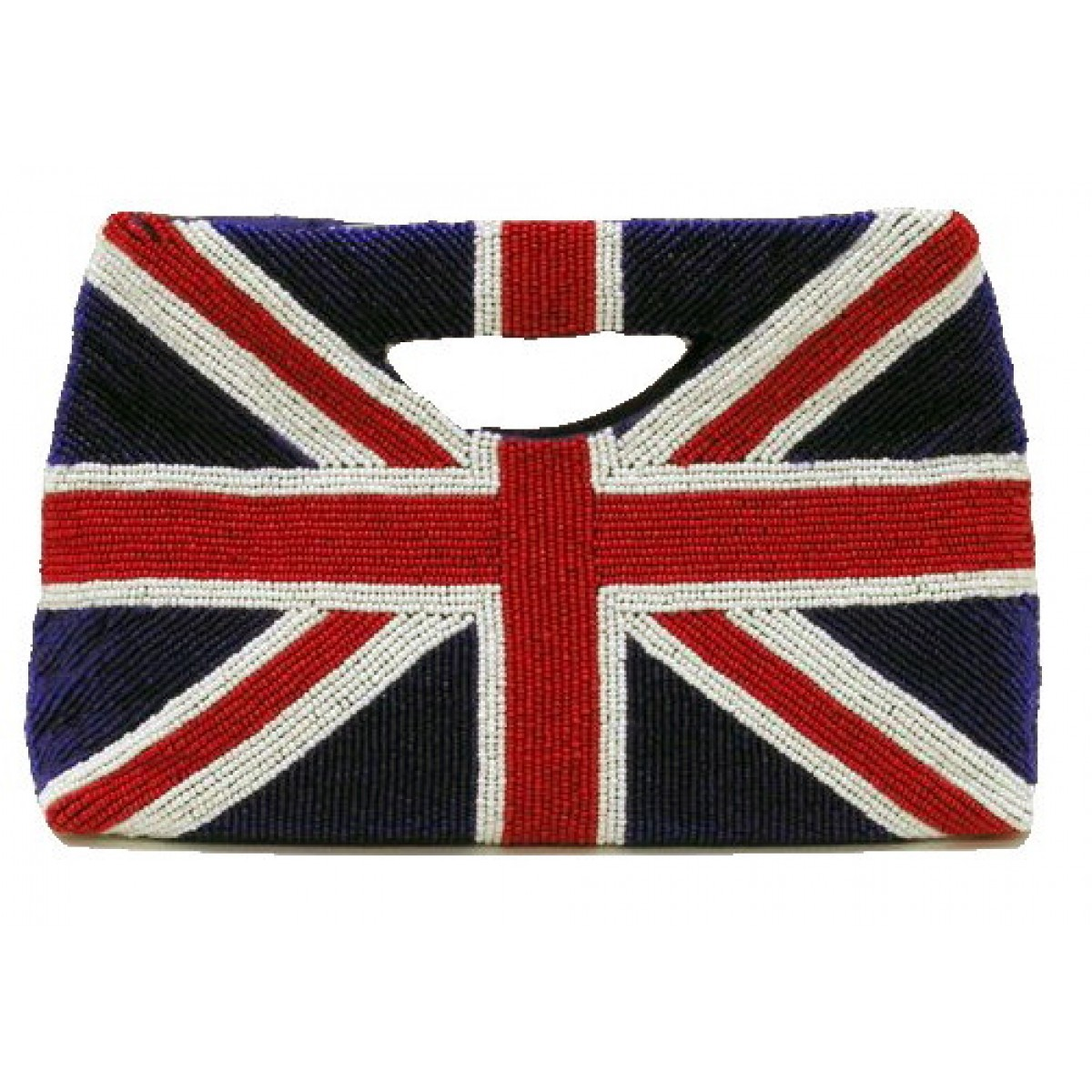 Beaded Flag Tote Clutch