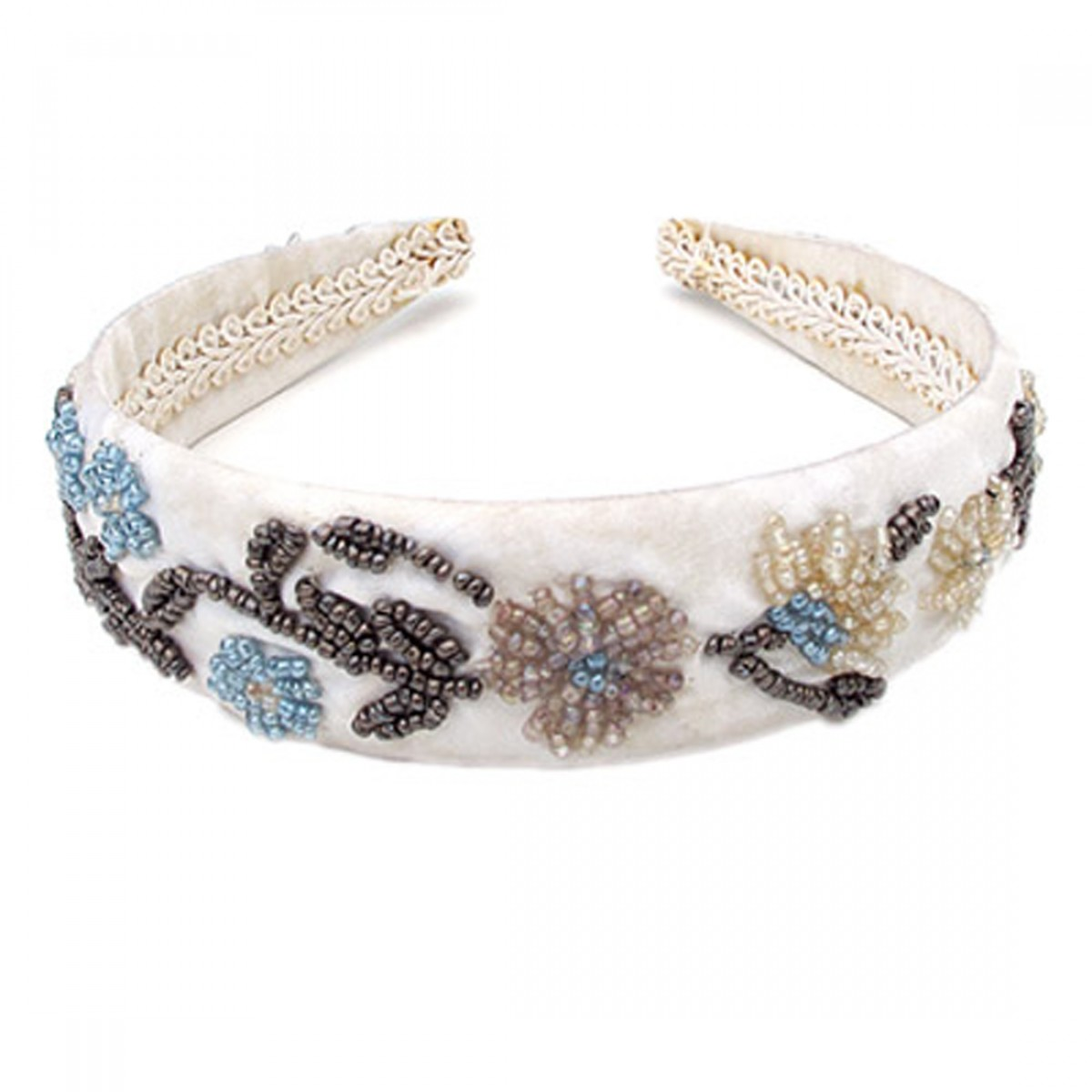 Beaded Flowers Head Band