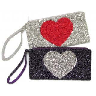 Beaded Heart Bag