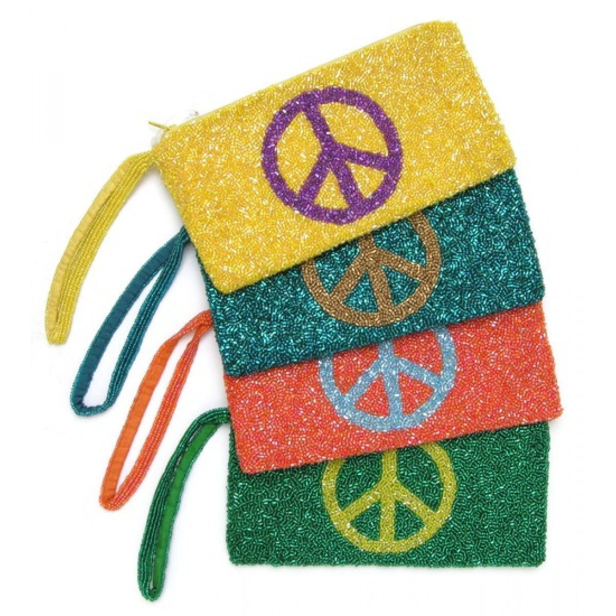 Beaded Peace Bag