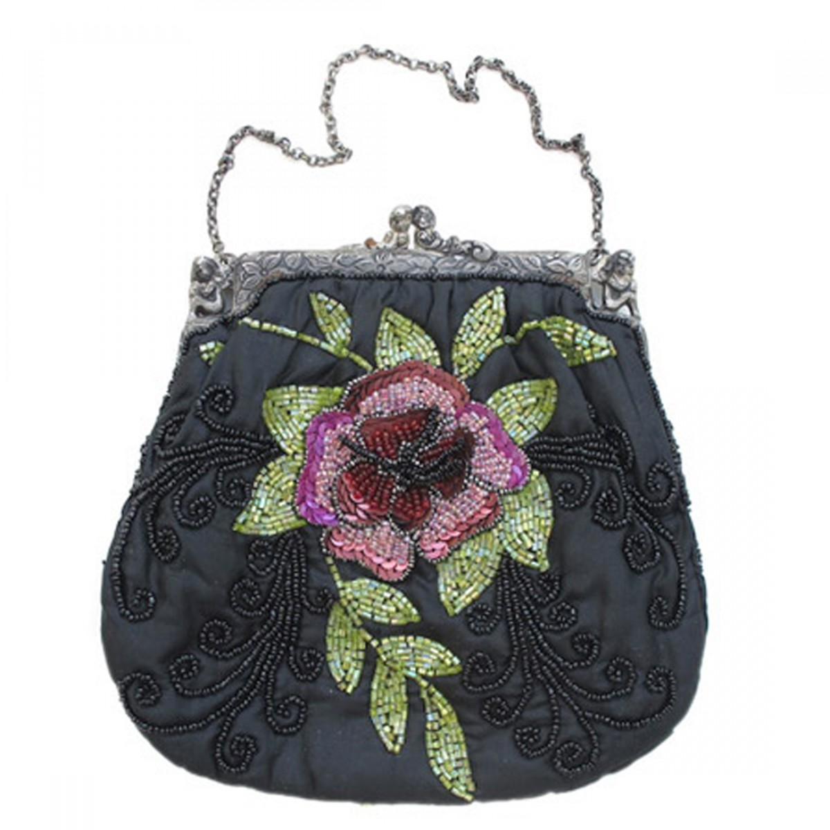 Beaded Silk Bag