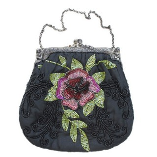 Beaded Silk Bag