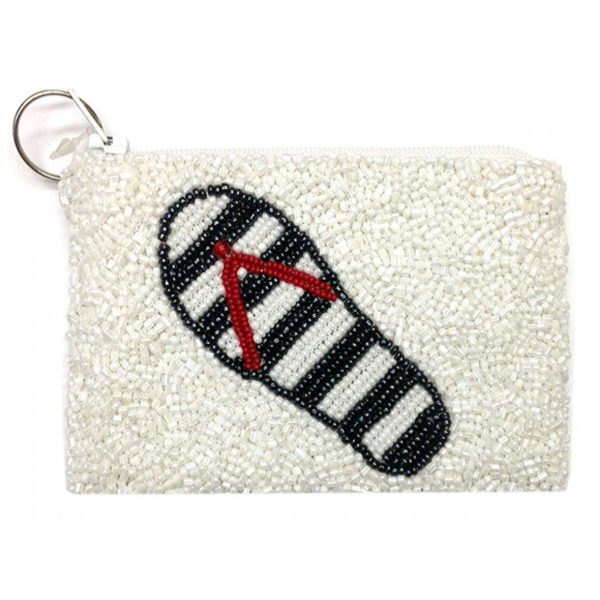 Beaded Slippers Coin Purse