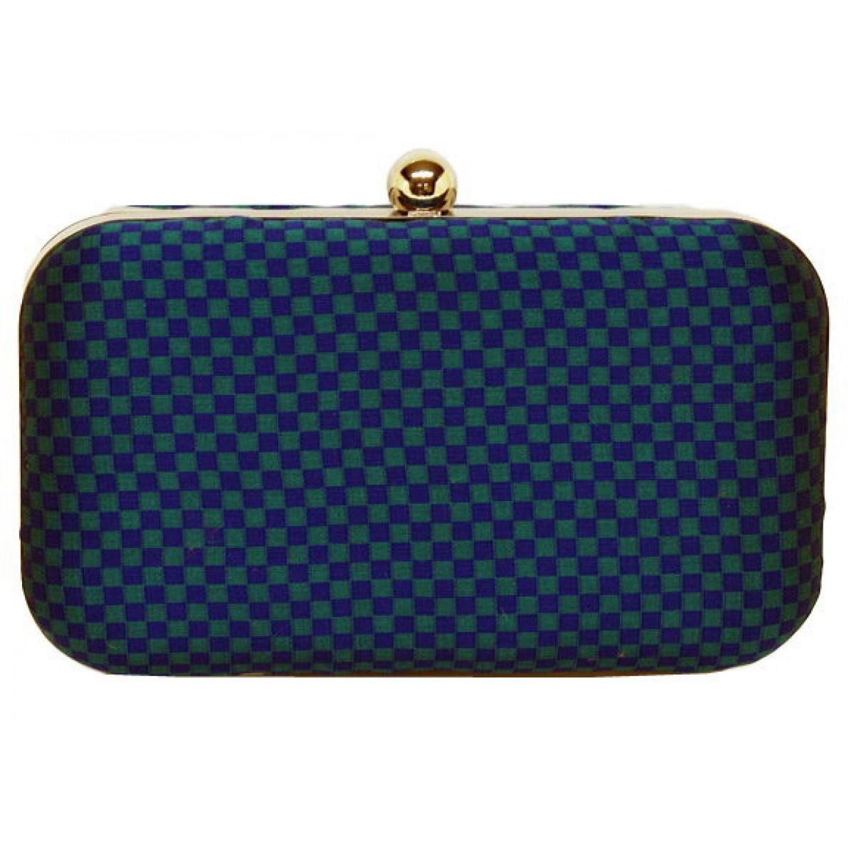 Box Bag Checkered Pattern