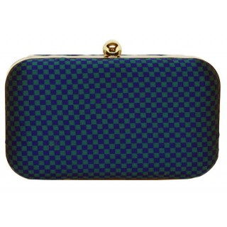 Box Bag Checkered Pattern