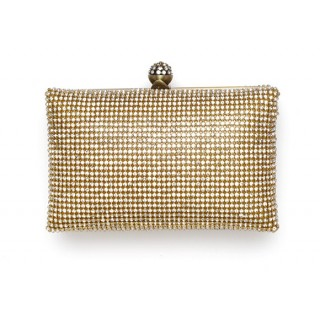 Box Bag Crystal Mesh Clutch