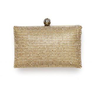 Box Bag Crystal Mesh Clutch