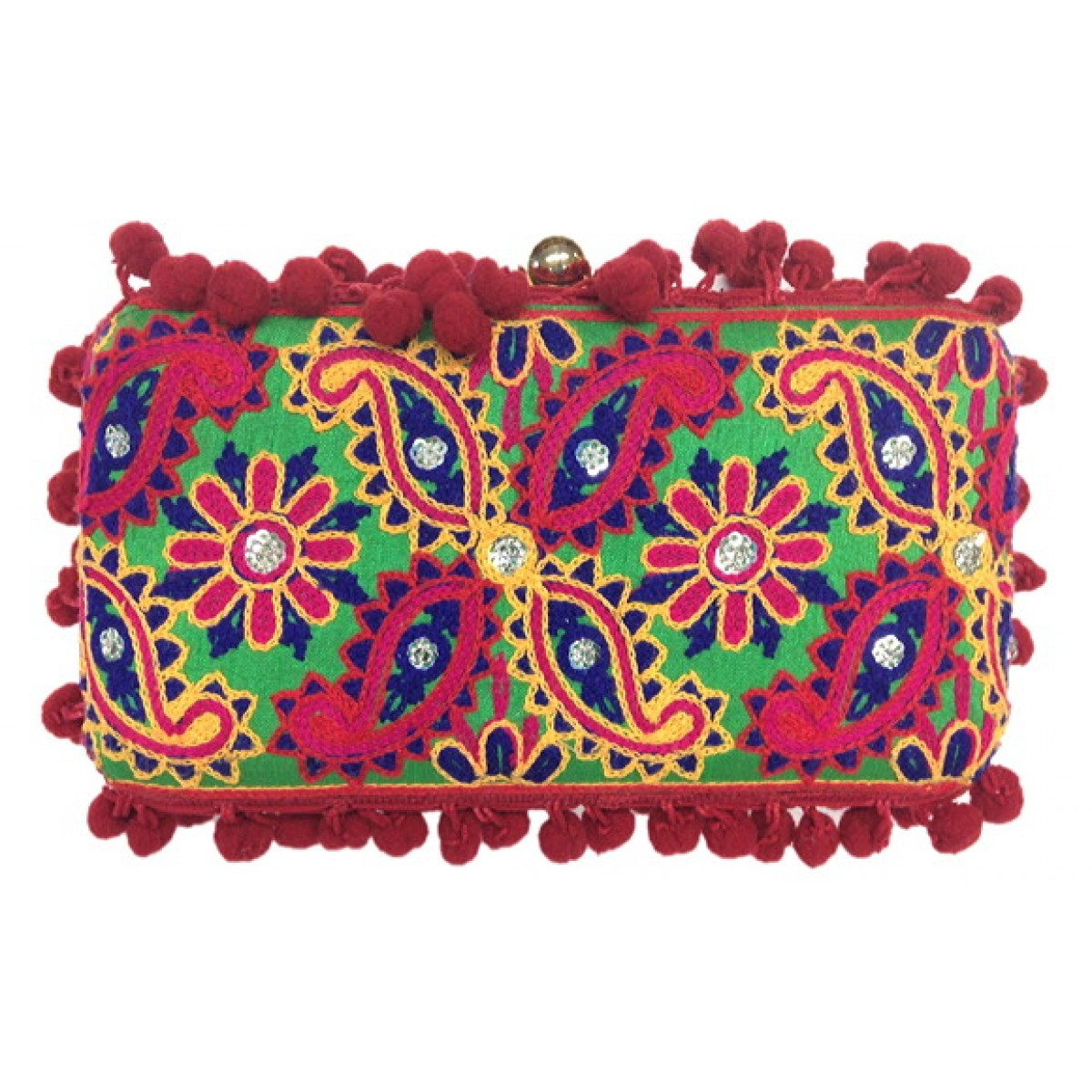 Box Bag with Jaipur Embroidery