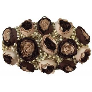 Box Bag with Pearl & Roses