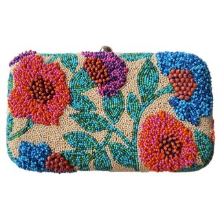 Box Clutch Abstract Flowers