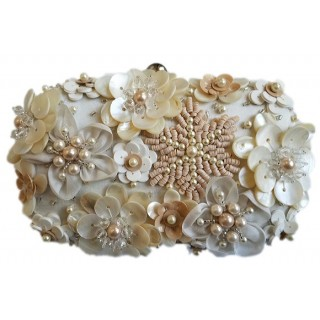 Box Clutch Sequin Flowers