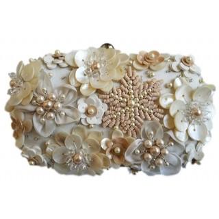 Box Clutch Sequin Flowers