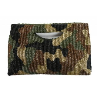 Camouflage Beaded Bag
