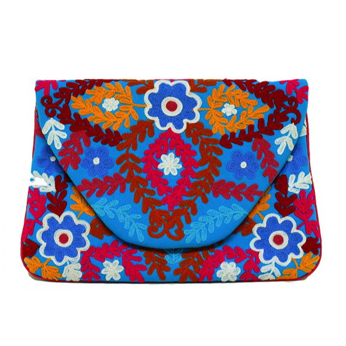 Canvas Embroidered Clutch