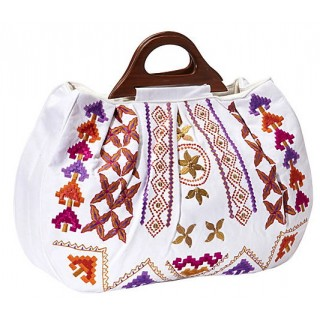Canvas Tote with Embroidered and Beaded Embellishments