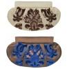 Clutch Silk Damask Pattern