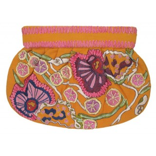 Clutch Canvas Embroidered Flowers