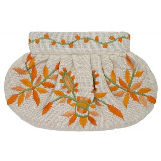 Clutch Jute Emberoidered Flowers