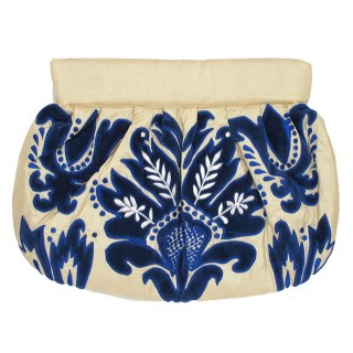 Clutch Silk Damask Pattern