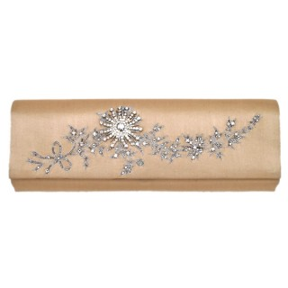 Clutch with a Crystal Floral Design