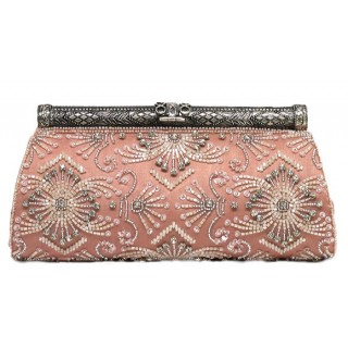 Clutch with Beaded and Crystal Embellishments