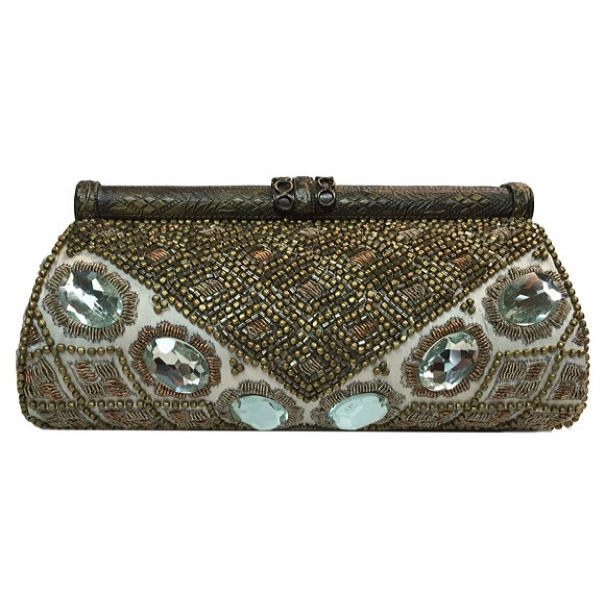 Clutch with Crystal Stones