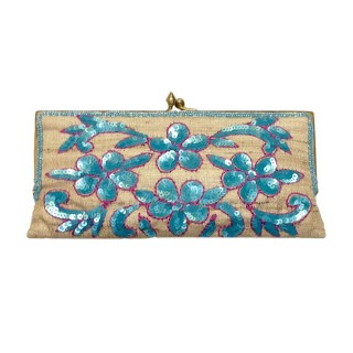 Clutch with Floral Sequin