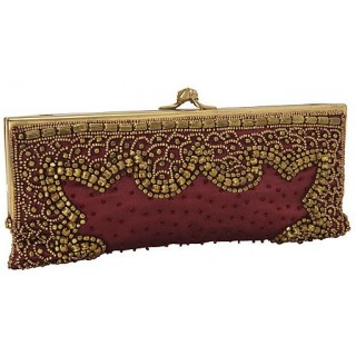 Clutch with Metallic Embellishments
