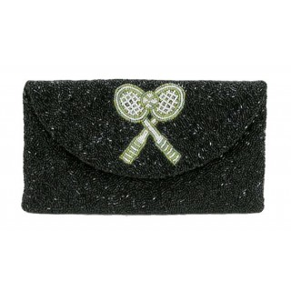 Clutch with Round Flap with Tennis