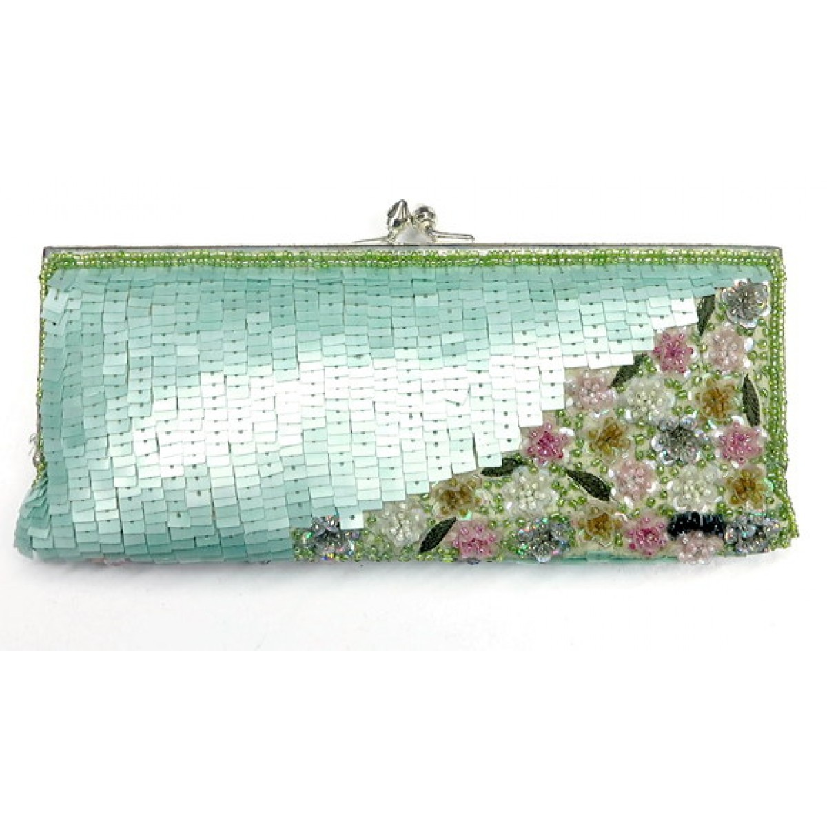 Clutch With Sequin, Beads and Embroidery