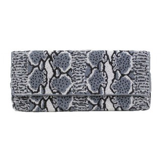 Clutch with Snake Print