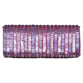 Clutch with Vertical Sequin