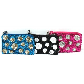 Coin Purse Sequin Polka Dots