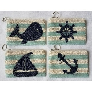 Coin Purse Stripes Nautical