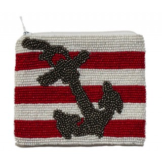 Coin Purse Stripes with Anchor