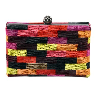 Color Block Box Clutch