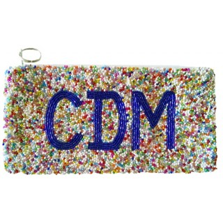 Cosmetic Pouch Multi Monogram