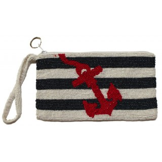 Cosmetic Pouch Stripes with Anchor