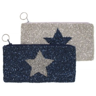 Cosmetic Pouch with Star Motif